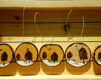 Rustic Wooden Ornaments