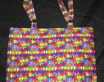 Puzzle pieces Tote