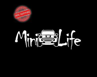 Mini Cooper, Christmas Gift, Mini Cooper Decals, Stocking Stuffer, Mini Cooper Sticker, mini, Car Decal, Macbook Decal, Mini Cooper Stickers