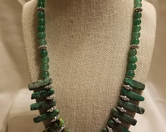 Adventurine and Agate Necklace (SHA- 116)