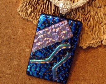 Dichroic Pendant - Dichroic Necklace - Fused Glass Pendant - Fused Glass Jewelry - Dichroic  Jewelry - Glass Pendant