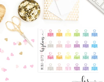 Binder Clip Stickers : MINI-075