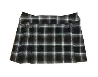 Vintage Plaid  Mini Skirt 90s Y2K
