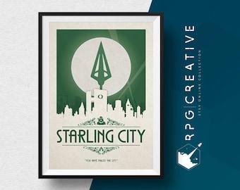 Green Arrow Origin Print : Starling City - DC Comics