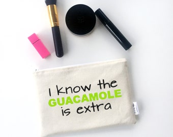Gifts for Friends - Guacamole - Foodie Gifts - Make-up Bags - Gag Gifts - Funny Makeup Bag - Foodie Gift Ideas - White Elephant Gifts