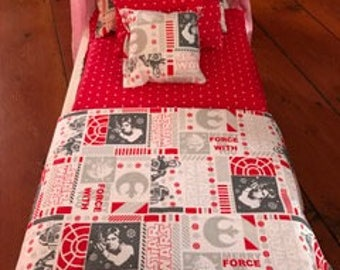 Christmas Star Wars Theme Bedding for 18 inch doll