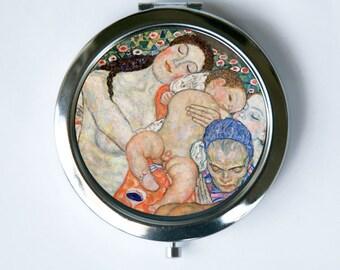Klimt Life Compact Mirror Pocket Mirror Art Nouveau