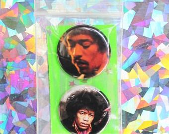 Jimi Hendrix Button Set
