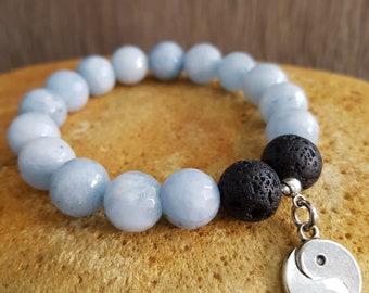 Women's bracelet, oil diffuser, aromatherapy bracelet, charm bracelet, mala bracelet, yoga jewelry, women birthday gift, beaded bracelet, om