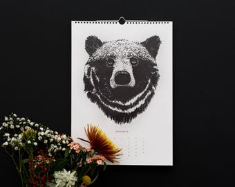 "Sale! Calendar 2018 Animals ""Forest animals 2018 – for wild Times""/Wall calendar A3"