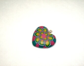 VALENTINE Heart Jewelry Pendant Charm Unique Flower Design Multi Color Heart Vintage Jewelry Love Charm Sweetheart Pendant Gift Box Jewelry