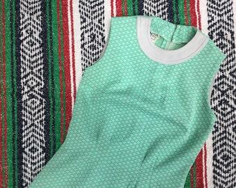 Vintage Green Mini Dress