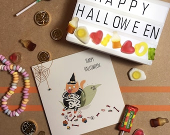 Welcome to the Candy Shop - Square Greetings Card