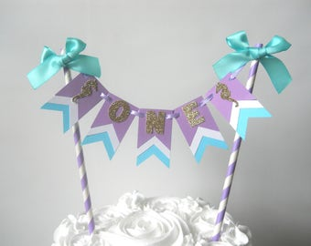 Under the Sea Cake Bunting, Under the Sea Cake Topper, Under the Sea Party Decor, Under the Sea First Birthday, Mermaid Party, Mermaid Cake