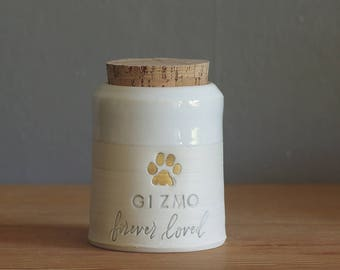 custom pet urn. small collar shape. human ashes urn, pet urn. white on white porcelain. modern pottery urn, custom text