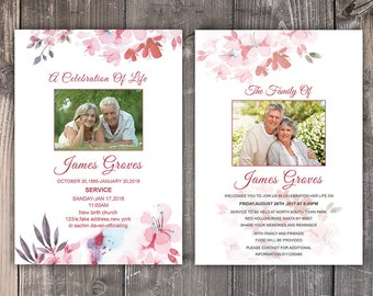funeral announcement cards