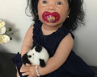 CUSTOM Crawler BIG Reborn Baby w/Torso - AA Biracial Ethnic Girl/Boy