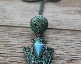 Patina Arrowhead Necklace
