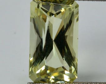 BERYL HELIODOR Natural Faceted untreated gem cut 5.15ct #G4, loose gemstone, natural crystal - UKRAINE