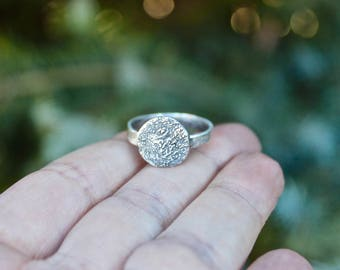 Pawprint Ring, Paw Print, Actual Paw Print Ring, Paw Print Ring, Paw Print Impression Ring, Sterling Silver Paw, Print Ring, Real Pawprint