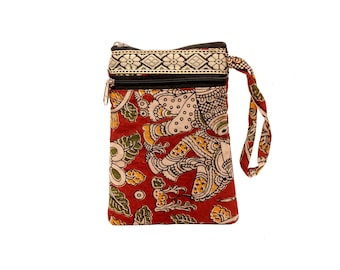 Handcrafted Cotton Printed Mobile Pouch