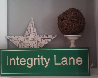 Custom Carved Wooden Street Sign