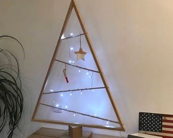 Scandinavian wooden Christmas tree