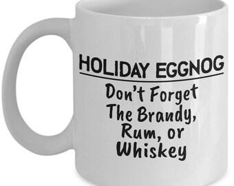 Holiday Eggnog Mug - Ceramic Mug For Coffee And Tea, 11oz and 15oz, Made In The USA