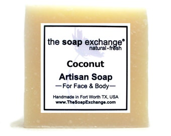 Coconut Bar Soap, Natural Handmade Soap, Cold Process Soap, Artisan Soap, Olive Oil, Shea Butter, Soap Bar, The Soap Exchange