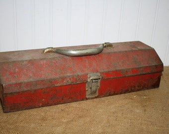Vintage Metal Tool Box -  item #2902