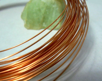 Copper wire 22ga for wire wrapping -3 yards-Copper German style wire round- 0.64mm wire- findings-22 gauge- Jewelry supply.