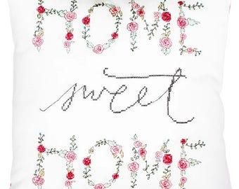 home sweet home cross stitch pillow kit home modern cross stitch counted sweet home stitch home stitch pattern gift cross stitch diy xstitch