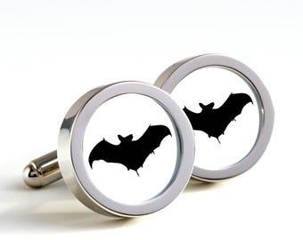 Bat les boutons de manchette - boutons de manchette en cadeau, boutons de manchettes pour hommes, mari, mariage cadeau, boutons de manchette nouveauté pour lui, Bat des boutons de manchette