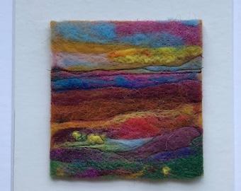 Landscape felt wool miniatuur