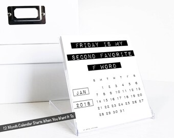 2018 Funny Desk Calendar, Sassy, Sarcastic Desktop Accessories, Inappropriate Coworker Gift, Hilarious Girlfriend, Rude Office Humor