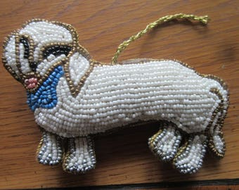 Kim Seybert Beaded Dachshund Ornament