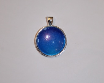 Navy, Indigo, Blue and Aqua Granulated Orb Necklace