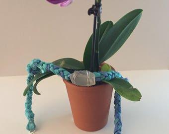 Silk Sari Ribbon and Sea Glass Necklace