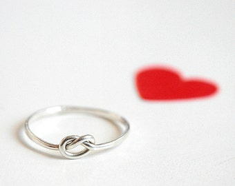 Love Knot Ring Sterling Silver, love, BFF, friendship, anniversary, valentine gift