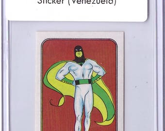 1984 Hanna Barbera Comic Cartoon Sticker SPACE GHOST