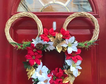 Christmas Holiday Mouse Ear Wreath