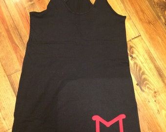 Single initial swimsuit cover up
