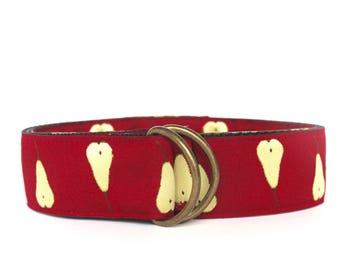 Red Pear Ribbon Belt-last one