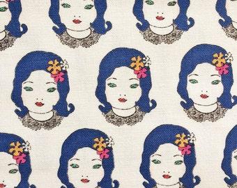 Obiko | Elegant Punk Japanese Girl | Unique Fabric | Modern Fabric | Kokka Fabric | Japanese Import