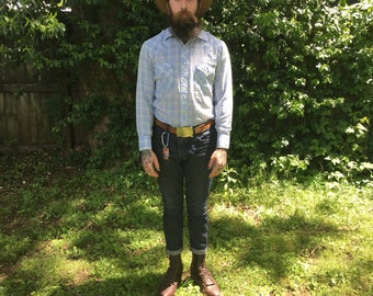 Vintage Western Shirt Mens