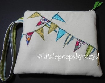 zipper bag / tote /purse / makeup / wristlet / e readers flags, banners