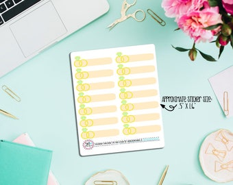 Anniversary Planner Stickers! Perfect for ECLP Monthly view. Will fit most planners!
