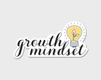 Growth Mindset Bumper Sticker Decal