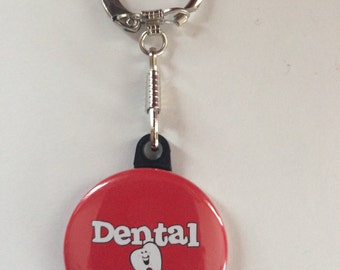 Dental Assistant Keychain Handmade Keychain, Teeth, Dental Assistant, Dentist, Dentist gifts,