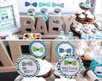 Baby Shower Decorations boy bow tie baby shower decorations baby shower decor boy baby shower little man shower baby boy shower